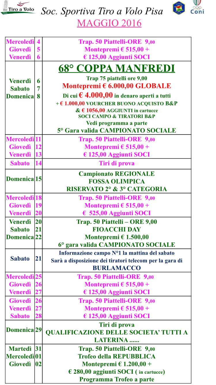 Pisa Calendario.Calendario Maggio Tav Pisa